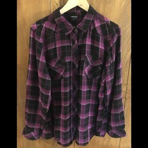 Torrid Plaid Flannel-like Shirt